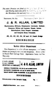 Cover of: Edinburgh in the Nineteenth Century: Being a Diary of the Chief Events which Have Occurred in ..