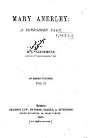 Cover of: Mary Anerley: A Yorkshire Tale | R. D. Blackmore