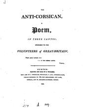 Cover of: The anti-Corsican, a poem [by M. Rolleston.]