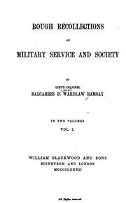 Cover of: Rough Recollections of Military Service and Society | Balcarres Dalrymple Wardlaw Ramsay