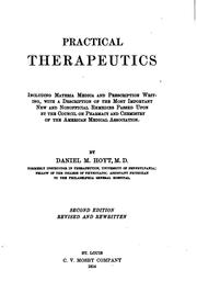 Cover of: Practical Therapeutics: Including Materia Medica and Prescription Writing ..