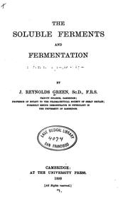 Cover of: The Soluble Ferments and Fermentation