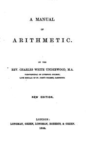Cover of: A manual of arithmetic. [With] Answers