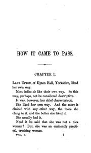 Cover of: How it came to pass; or, Seed-time and harvest