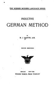 Cover of: Inductive German Method