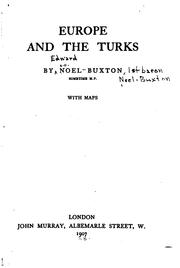 Cover of: Europe and the Turks