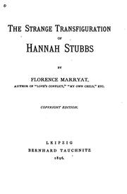 Cover of: The Strange Transfiguration of Hannah Stubbs