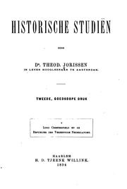 Cover of: Historische studiën