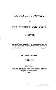 Cover of: Eustace Conway, Or, The Brother and Sister: A Novel