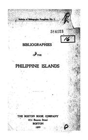 Cover of: Bibliographies of the Philippine Islands