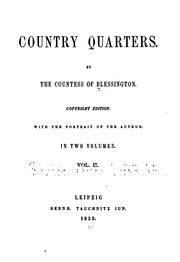 Cover of: Country Quarters