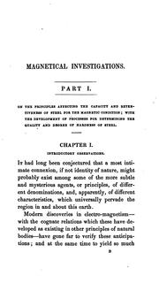 Cover of: Magnetical investigations. 2pt