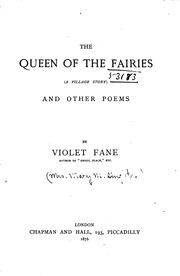 Cover of: The Queen of the Fairies: (a Village Story), and Other Poesm