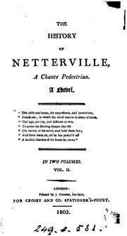 Cover of: The history of Netterville, a chance pedestrian