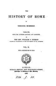 Cover of: The history of Rome [With] Index