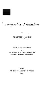 Cover of: Co-operative Production