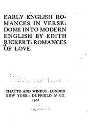 Cover of: Early English romances in verse