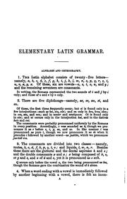 Cover of: Elementary Latin grammar. [With] Latin exercises