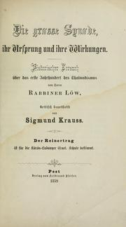 Cover of: Die grosse Synode