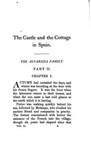 Cover of: The castle and the cottage in Spain, [selections] from the Span. of Fernan Caballero, by lady ... | Cecilia Francisca J . Arrom de Ayala