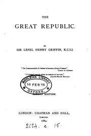 Cover of: The great republic [a criticism of America]