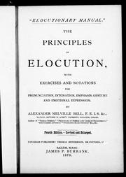 Cover of: The principles of elocution