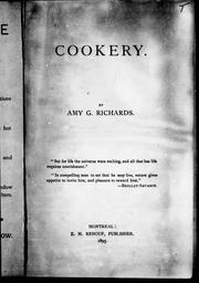 Cookery by Amy G. Richards
