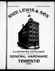 Illustrated catalogue of general hardware