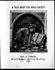 Cover of: A talk about the Bible Society |