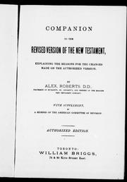 Cover of: Companion to the revised version of the New Testament |