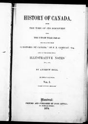 Cover of: History of Canada: from the time of its discovery till the union year 1840-41
