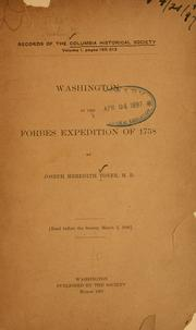 Cover of: Washington in the Forbes expedition of 1758