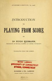 Cover of: Introduction to playing from score