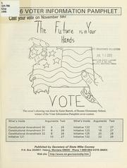 Cover of: 1996 Voter information pamphlet |