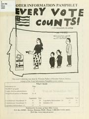 Cover of: 2000 Voter information pamphlet | [introd.] Mike Cooney, Secretary of State.