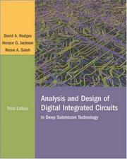 Cover of: Analysis and Design of Digital Integrated Circuits | David A. Hodges