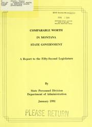 Cover of: Comparable worth in Montana state government | Paula Stoll
