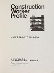 Cover of: Construction worker profile, user