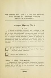 Cover of: Initiative measure No. 8 by Montana. Secretary of State.