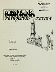 Cover of: Montana petroleum review