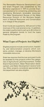 Cover of: Montana renewable resource development program for towns, cities, counties, conservation districts, state agencies. | Montana. Water Development Bureau.