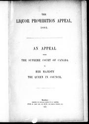 Cover of: The liquor prohibition appeal, 1895 |