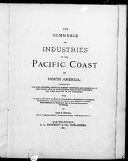 The commerce and industries of the Pacific coast of North America by John S. Hittell