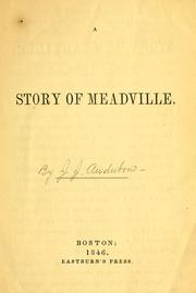 Cover of: A story of Meadville