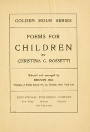 Cover of: Poems for children