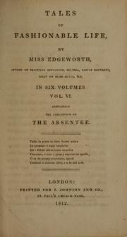 Cover of: Tales of fashionable life | Maria Edgeworth