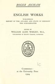 Cover of: English works | Roger Ascham