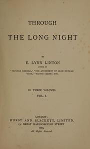 Cover of: Through the long night | Elizabeth Lynn Linton