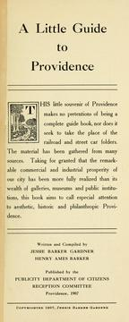 Cover of: little guide to Providence. | Jessie Barker Gardner