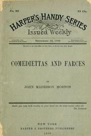 Cover of: Comediettas and farces | John Maddison Morton